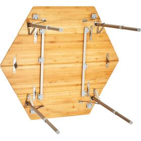 CAMPZ Hexa Bamboo Folding Table 100x86x40/60cm brown